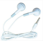 Generic 3.5mm Earbud Headset, MP3 player headset (for Music ONLY) - White