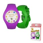 Candy Crush Unisex Watch Scented Grape and Apple, Interchangeable wristbands