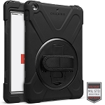 Cellairis Rapture Rugged Case for Apple iPad 10.2 (2019/7th Gen) W/O Pen Holder W/ Kickstand And & Hand Strap - Black