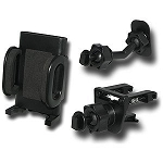 Verizon Universal Cell Phone Vent & Adhesive Car Mount Holder Combo - Black