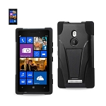 Reiko - Silicone Case Plus Protector Cover Nokia Lumia 925 - Black