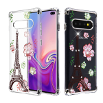 ASMYNA Electroplating Silver/Diamante Klarion Candy Skin Cover  for Galaxy S10 plus