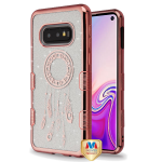 MYBAT Electroplating Rose Gold Dreamcatcher (Transparent Clear) Full Glitter TUFF Hybrid Case  for Galaxy S10E