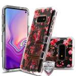 MYBAT Transparent Clear/Paris in Full Bloom TUFF Lucid Hybrid Protector Cover for Galaxy S10E