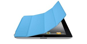 Original Apple iPad 2, 3, 4 Leather Smart Cover - Light Blue