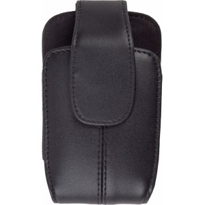 Black Leather Pouch for BlackBerry 8900 8930 9700 9520