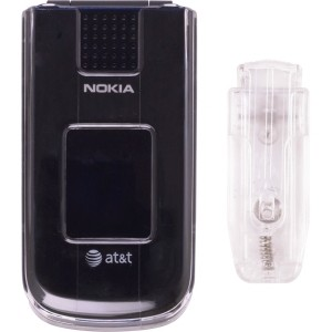 New Clear Snap-On Case w/ Belt Clip for Nokia 2720