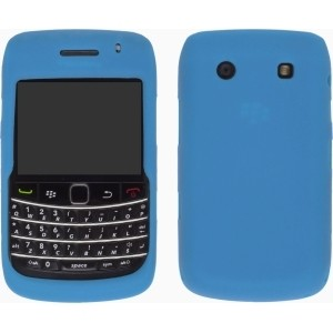 Aqua Silicone Gel Case for BlackBerry 9700