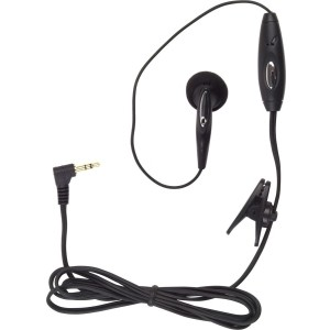 Wireless Solutions Mono Earbud Headset with 2.5mm Connection - Black