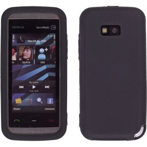 New Black Silicone Gel Skin Case for Nokia 5530