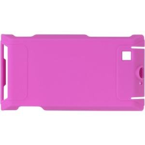 Wireless Solutions Rubberized Snap On Case for Motorola A555 Devour - Hot Pink