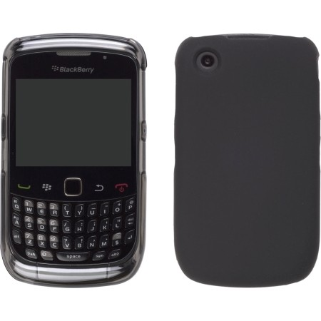 Wireless Solutions Two piece Hybrid Snap On Case for BlackBerry 8520 Curve2, 9300 Curve 3G, 9330 Curve 3G - Smoke/Black