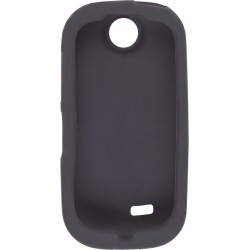 New Black Silicone Gel Skin Case for Samsung R710 Suede