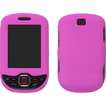 Pink Soft Touch Snap-On Case 4 Samsung T359 Smiley