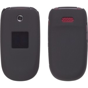 Black Soft Touch Snap-On Case for Samsung R330 Stride