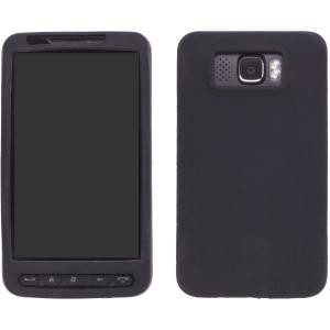 Black Silicone Gel Case for HTC HD2
