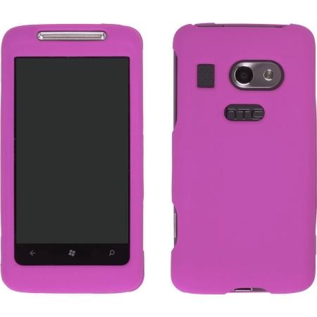 New Hot Pink Soft Touch Snap-On Case for HTC Surround