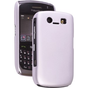 Glossy Silver Color Click Case for BlackBerry 8900
