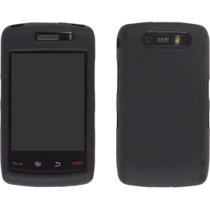 Black Silicone Gel Case for BlackBerry 9520 Storm 2