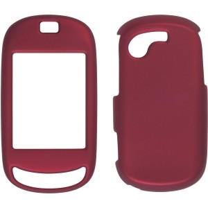 Dark Red Soft Touch Snap-On Case for T669 Gravity Touch