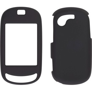 Black Soft Touch Snap-On Case for Samsung Gravity Touch