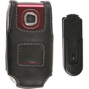 Black Leather Case w/ Swivel Clip for Nokia 2760