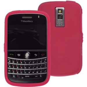 Red Silicone Gel Wrap Case for BlackBerry Bold 9000