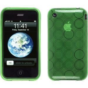 Grass Green TPU Dura-Gel Case for iPhone 3G 3GS