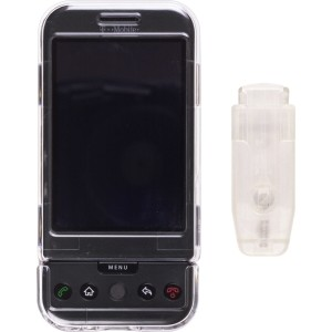 Clear Snap On Belt Clip Case for HTC Google G1
