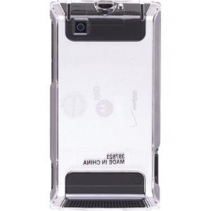 Wireless Solutions Rubber Snap On Case for Motorola A555 Calgary and A555 Devour DROID - Clear