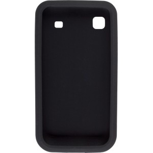 Smooth Silicone Gel Case Gel for Samsung T959 Galaxy S 4G, Vibrant - Black