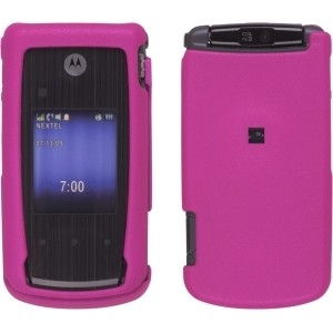 Pink Soft Touch Snap-On Case for Motorola Nextel i890