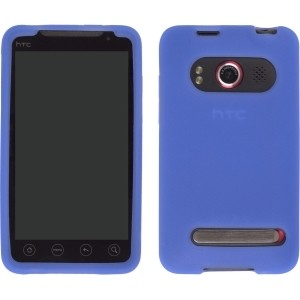 Textured Blue Silicone Gel Case for HTC EVO 4G 9292