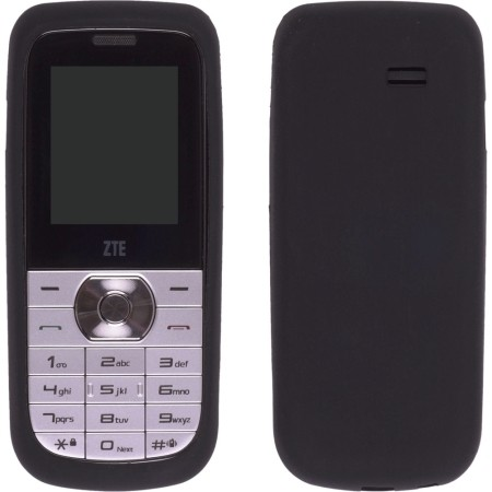 Black Silicone Gel Skin Case for ZTE R225
