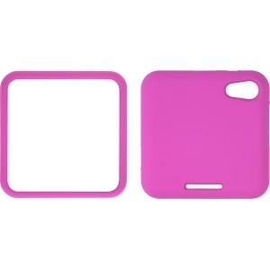 Pink Soft Touch Snap-On Case for Motorola MB511 Flipout