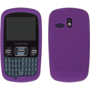 Purple Gel Silicone Case for Samsung R350 Pinger