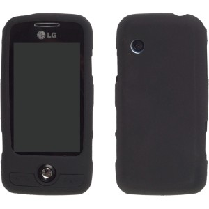 Wireless Solutions Silicone Gel Skin Case for LG GS390 Prime - Black
