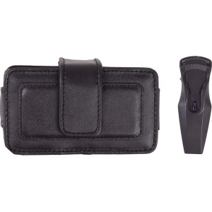 Horizontal Universal Leather Cell Phone Pouch - Black