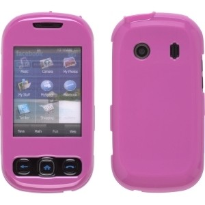 New Pink Two Piece Snap-On Case for Samsung M350 Seek