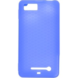 Textured Blue Silicone Case for Motorola MB810 DROID X