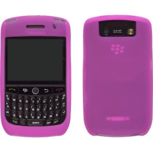 Wireless Solution Silicone Gel Wrap Case for BlackBerry 8900 - Hot Pink