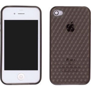 Grey Dura-Gel Illusion Silicone Case for iPhone 4
