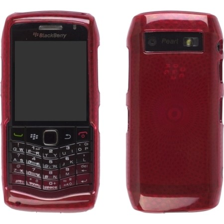 Red Diamonds Dura-Gel Case for BlackBerry 9100 Pearl