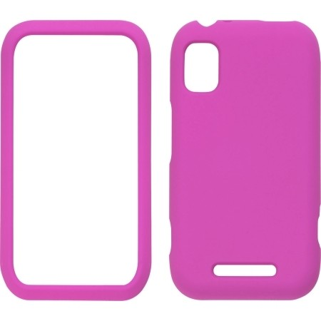 Pink Soft Touch Snap Case for Motorola MB508 Flipside