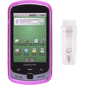 Pink Snap-On Case for Samsung M900 Instinct Q Moment