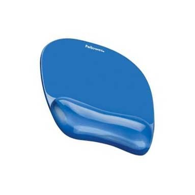 Fellowes Blue Gel Crystals Wrist Rest w/ Mouse Pad