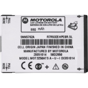 OEM Motorola BT51Slim Battery for KRZR K1m, MOTORIZR Z6tv, MOTOROKR Z6m, V325, W220, W380, W385, W490, W510 (SNN5762)