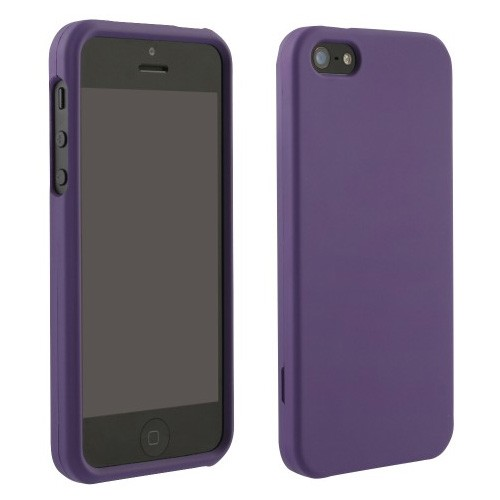 Rubberized Protective Case forApple iPhone 5 (Purple)