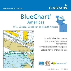 Garmin BlueChart Americas Saltwater Map CD ROM - Windows