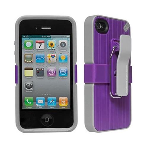 PureGear Utilitarian Smartphone Support System for Apple iPhone 4/4S (Purple) - 02-001-01489